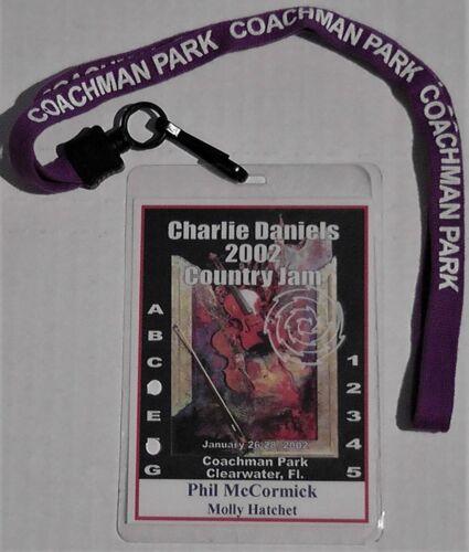 Charlie Daniels / Molly Hatchet / Phil McCormack Backstage Pass 2002 Rare