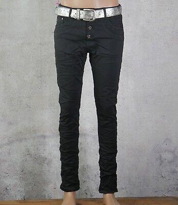 Klassische Schwarze Jeans ( ♥ Place du Jour Baggy Boyfriend Jeans Klassisch Classic Tief Schwarz *30 )