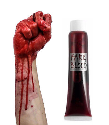 mpire Make Up Red Wound Scar Halloween Horror Fancy Dress (Make Fake Blood)