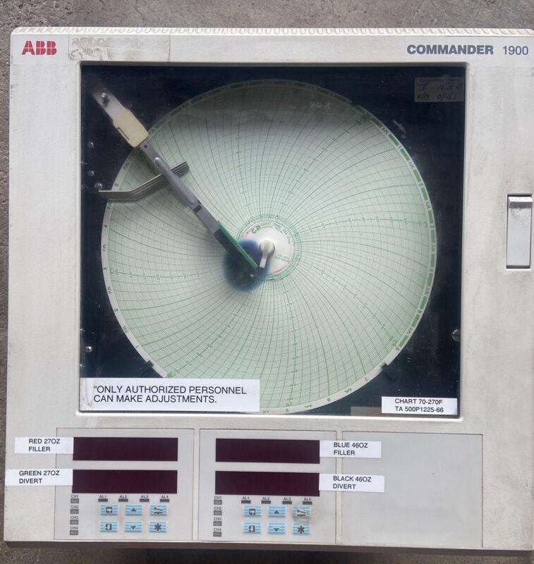 ABB Commander 1900 Circular Chart Recorder 1914JA001100000STD
