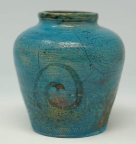 Turkish Blue Turquoise Pottery Vase