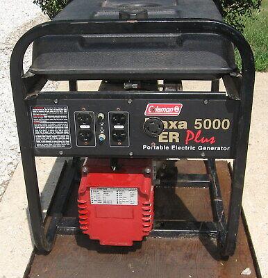 10 Hp 5000 Watt Coleman Maxa Er Powermate Gas Generator.