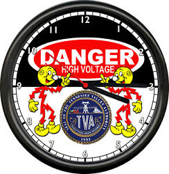 Reddy Kilowatt Tennessee Valley Authority TVA Power Plant Retro Sign Wall Clock