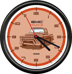 Licensed 1956 GMC Classic Vintage Pickup Truck General Motors Sign Wall Clock