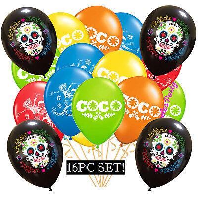 COCO MIGUEL DIA DE LOS MUERTOS BIRTHDAY BALLOON BALLOONS PARTY DECORATIONS (Dia De Los Muertos Party Supplies)