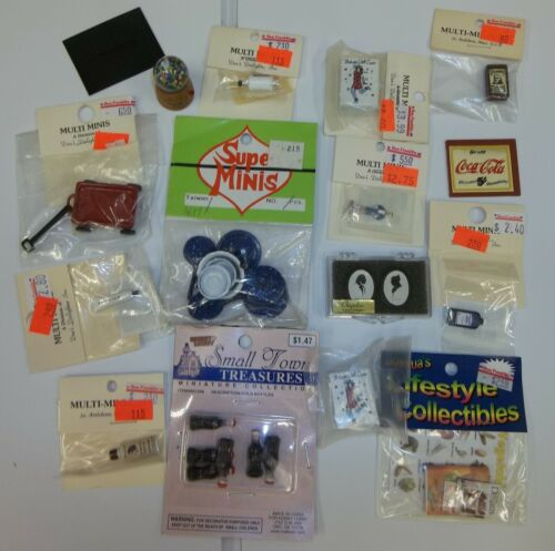 Lot of Vintage to New Dollhouse Miniatures Accessories - Most NOS in Packages