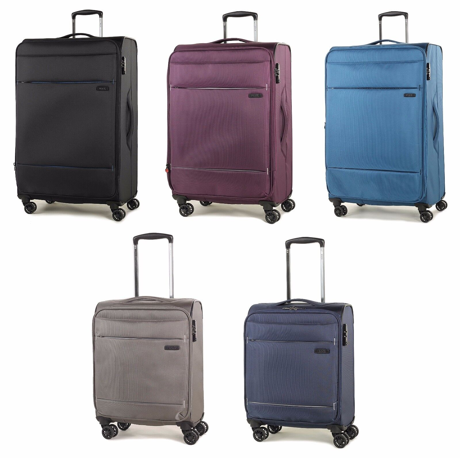 Rock Deluxe-Lite Super Lightweight Four Wheel Spinner Luggag