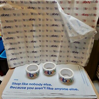 Ebay Branded Packaging 3ea Tapes 20 Envelopes 14.5 X 18.5 20 Tissue Papers