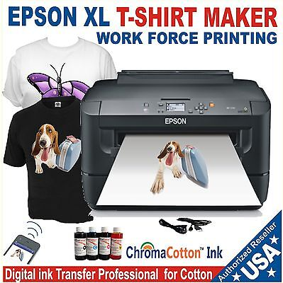 EPSON XL PRINTER REFILL INK SOLUTION TO PRINT T-SHIRT COTTON COMPLETE PACK