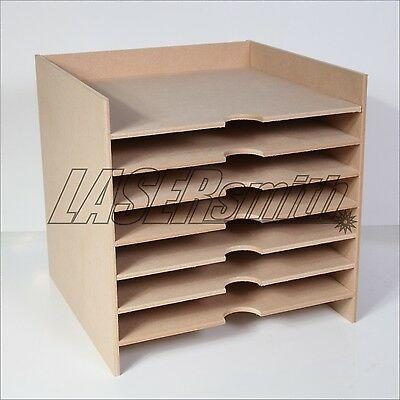 "12 x 12"" Inch Paper Storage Unit for Craft etc fits Ikea Kallax cube storage"
