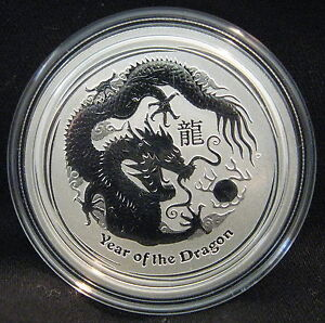 2012-Silver-1-2-Oz-Australian-Lunar-Year-Of-The-Dragon-BU-Series-II-Perth-Mint