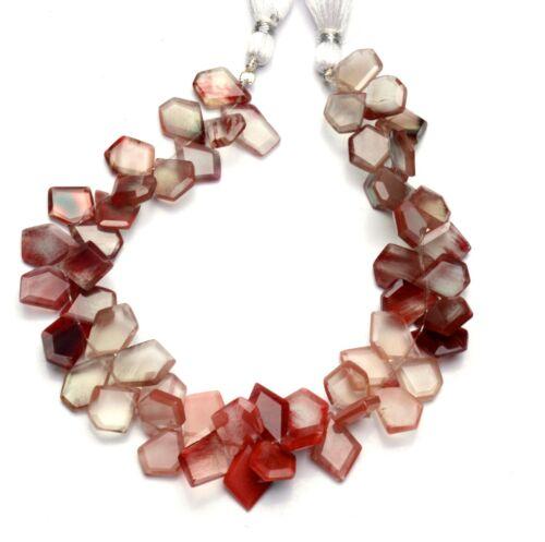 """Natural Gem Andesine Labradorite Faceted Slice Shape Beads 8.5"""" Strand 102Cts."""
