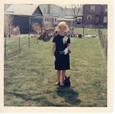 Vintage Photo Elegant Pretty Woman Wearing Easter Outfit, 1960's B