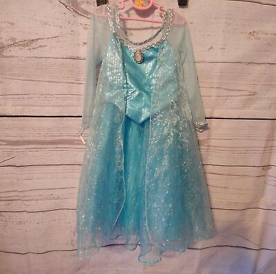 Disney Parks Elsa Kostüm (DISNEY PARKS World Authentic Frozen Princess ELSA Dress Costume Size small 6 6x)
