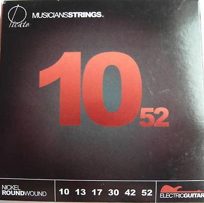 SATZ SAITEN für E-GITARRE Picato 10-52 Nickel Roundwound Heavy Metal Rock 90775