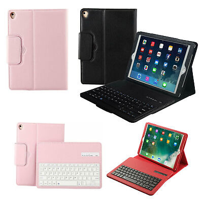 QWERTY Smart Bluetooth Keyboard Leather Stand Case Cover For iPad 9.7 10.2 10.5