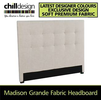 THICK FABRIC UPHOLSTERED HEADBOARD QUEEN & KING SIZE BEDHEAD NEW Moffat Beach Caloundra Area Preview