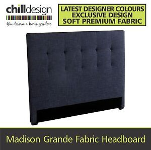 TUFTED FABRIC UPHOLSTERED QUEEN SIZE BEDHEAD HEADBOARD BED HEAD Brisbane City Brisbane North West Preview