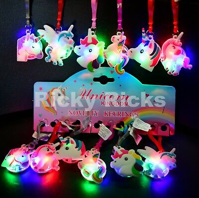 Unicorn Light Up Backpack Keychains Party Favors Cute Gifts