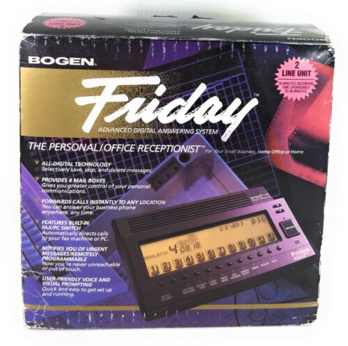 BOGEN FRIDAY Personal Office Receptionist Answering Machine FR-2000