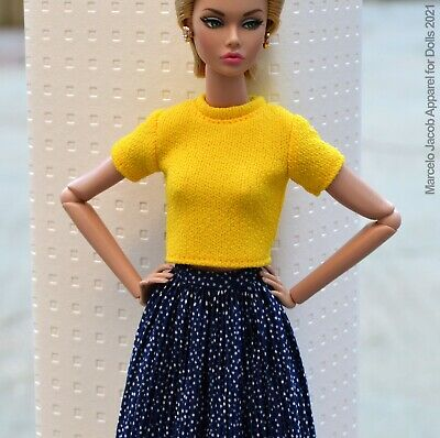 SWEATERDRESS FITS BARBIE SILKSTONE,POPPY PARKER,FASHION ROYALTY, NUFACE