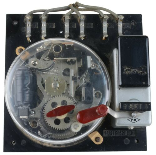 Vintage Gamewell Interior Mechanism for Fire Alarm Box