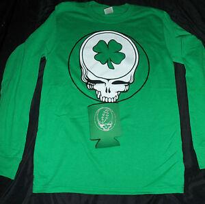 St patricks day irish grateful dead shirt stealie skull for Shirts and apparel koozie