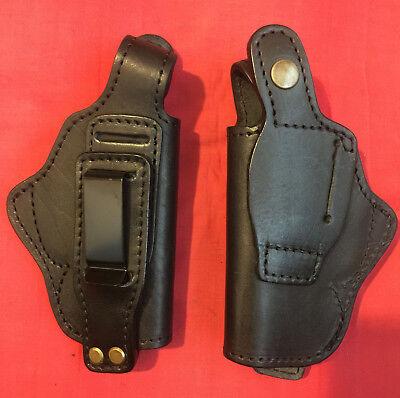 Concealment IWB Black Leather Holster for Makarov, P-64, PPK,CZ 82.Tuckable, New for sale  Brookline