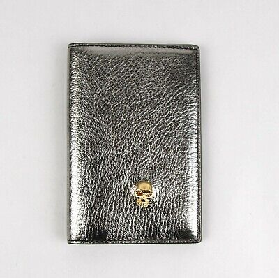 Alexander McQueen Silver Metallic Grain Leather Pocket Organizer 305073 1300