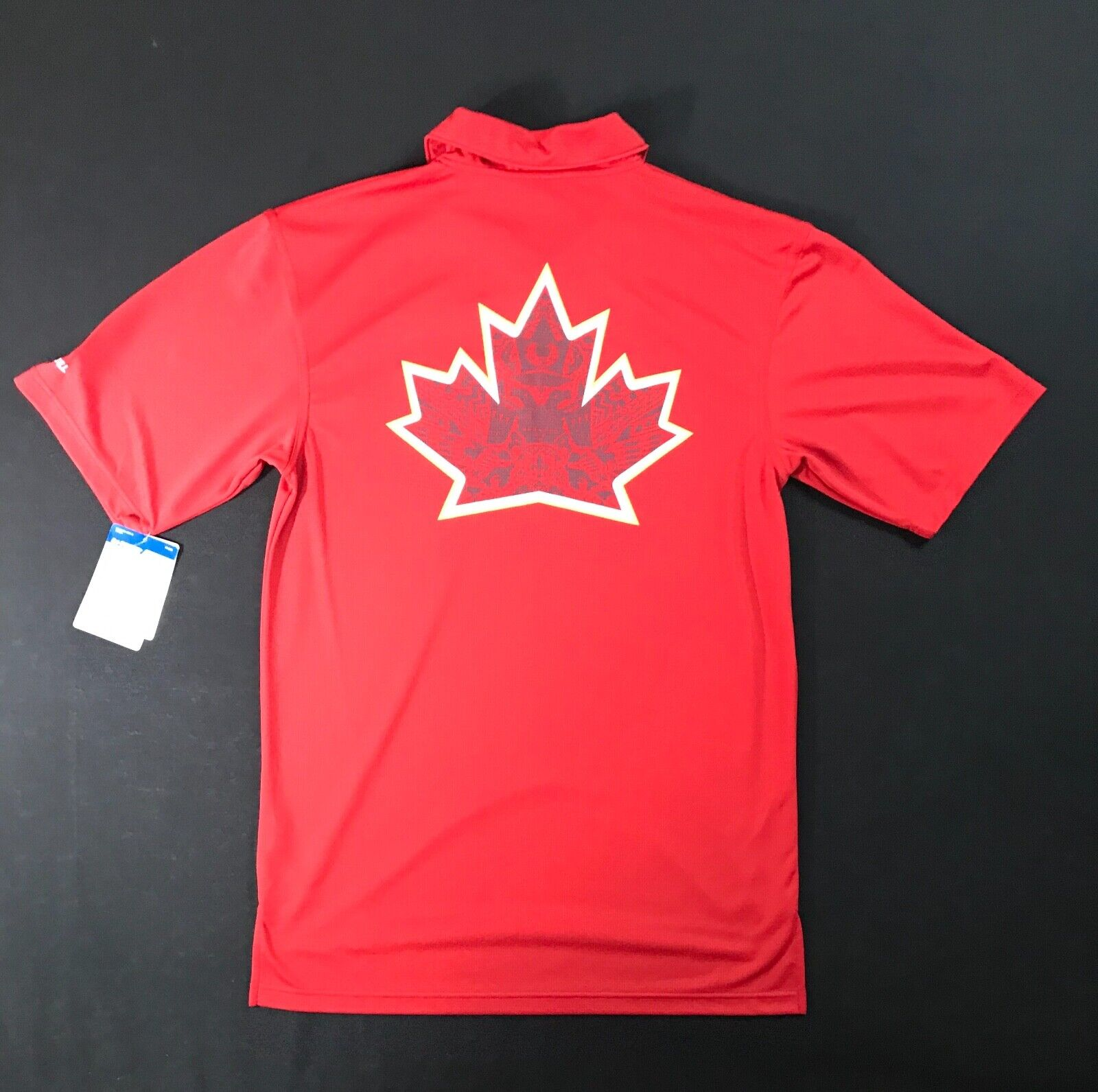 Russell Athletic Canadian Leaf Dry Fit Red Polo Shirt Men's