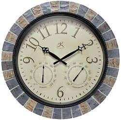 Infinity Instruments Inca II 19 inch Large Indoor/Outdoor Clock Stone