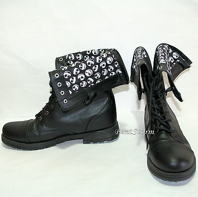 DISNEY Jack The Nightmare Before Christmas COMBAT BOOTS WOMENS Fold Over SHOES - Nightmare Before Christmas Boots