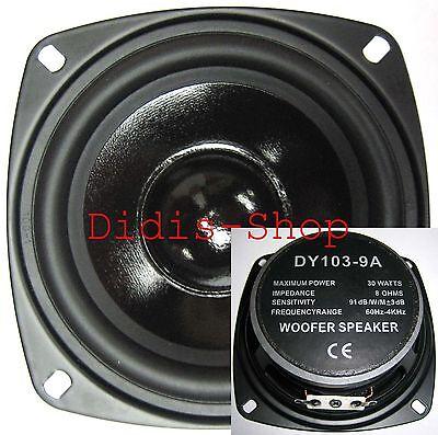 """100mm 4"""" Lautsprecher 30w / 8ohm Basslautsprecher NEU Bass 30 Watt 100 mm 10cm"""
