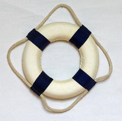DEKO-RETTUNGSRING 14 cm weiss-blau