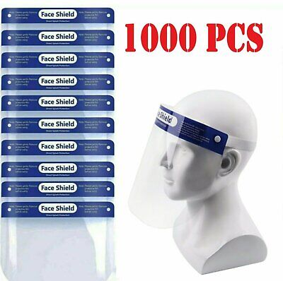 1000pcs Safety Full Face Shield Reusable FaceShield Clear Washable Anti-Splash Clothing, Shoes & Accessories