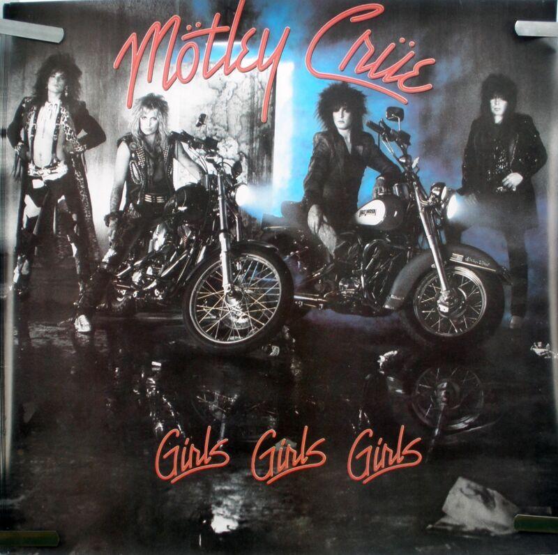 RARE MOTLEY CRUE GIRLS GIRLS GIRLS 1987 VINTAGE ORIG MUSIC STORE PROMO POSTER