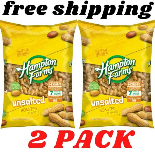 Hampton Farms Unsalted In-Shell Peanuts (5 lbs.) 2 pack