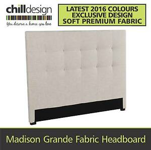 TUFTED FABRIC UPHOLSTERED QUEEN SIZE BEDHEAD HEADBOARD BED HEAD Moffat Beach Caloundra Area Preview