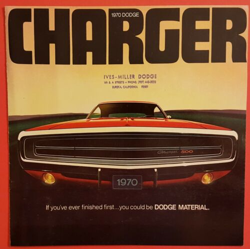 Original 1970 Dodge Charger Brochure - Performance Catalog
