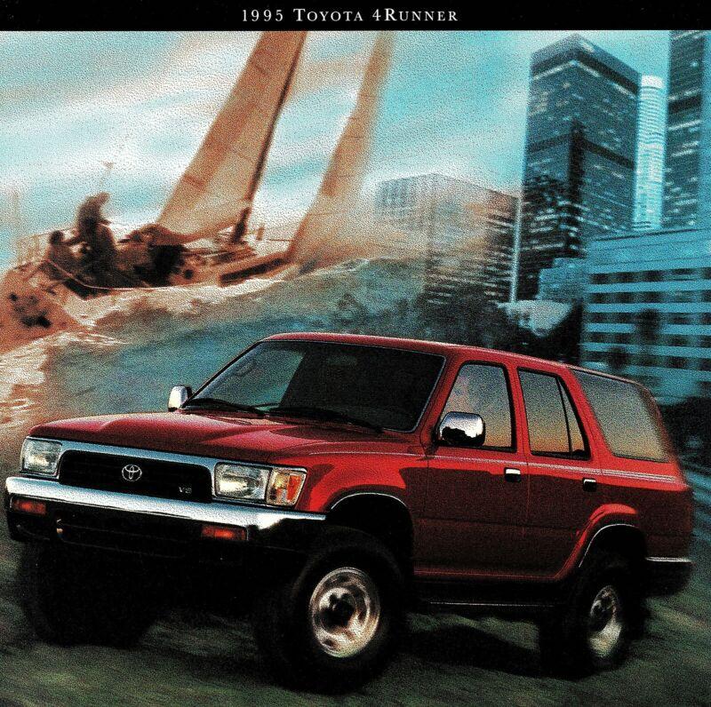 1995 Toyota 4 Runner 4WD SR5 SR5 V6 2WD SR5 V6 Large Deluxe Sales Brochure