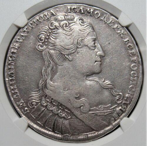 Russia: Czarina Anna Rouble 1734 VF25 NGC. Rare Portrait!!!