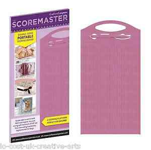 THE SCOREMASTER A4 DOUBLE SIDED PORTABLE SCORING BOARD FOR CARD & BOX MAKING