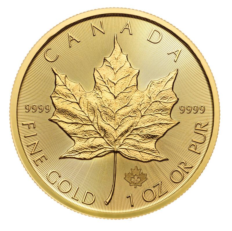 2018 $50 1oz Gold Canadian Maple Leaf .9999 BU