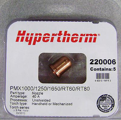 Hypertherm Genuine Powermax 100012501650 40 Amp Nozzles 220006 5pk