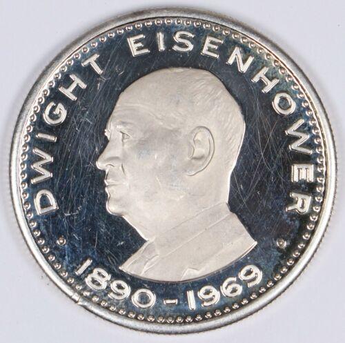 1970 United Arab Emirates Ras Al Khaima Eisenhower 10 Riyals .925 Silver UAE