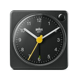 Braun BN-BC2XB Black Square Quartz Alarm Classic Travel Clock