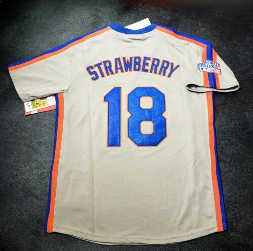 Darryl Strawberry New York Mets Jersey 1986 World Series Thr