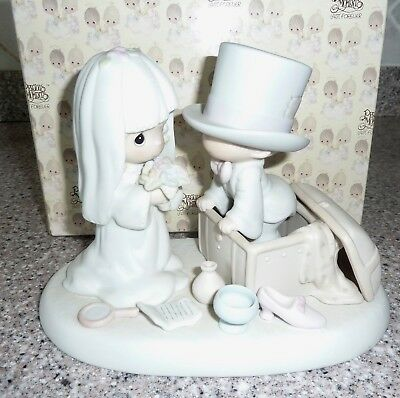 """""""Heaven Bless Your Togetherness"""" 106755 Precious Moments Figurine, Bride, Groom"""