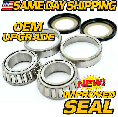 Drag Neck Stem Post Bearing, Race & Seal Kit Repl Harley OEM 48300-60, 48315-60 ()