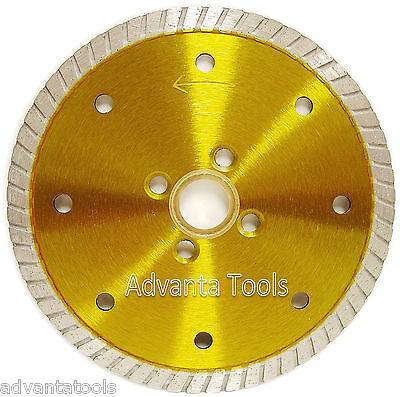 5 Granite Turbo Diamond Blade W 4 Screw Holes For Angle Grinders